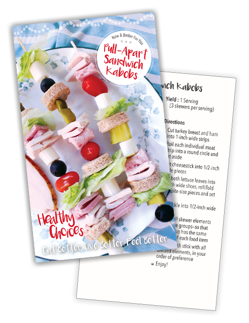 01 Sandwich Kabob Recipe Card front and Back
